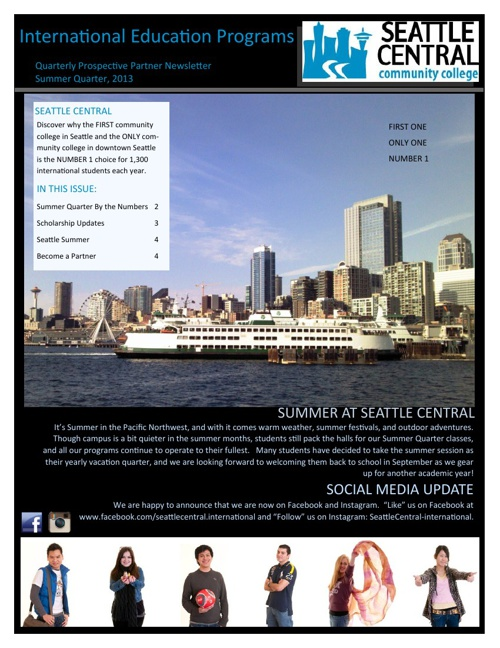 Seattle Central Summer Newsletter - 2013