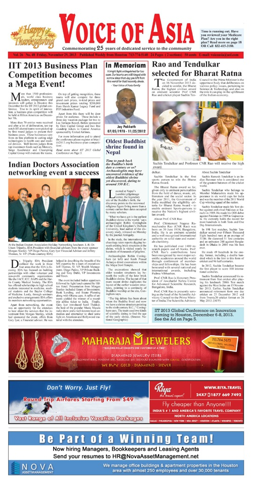 Voice of Asia Nov 29 2013