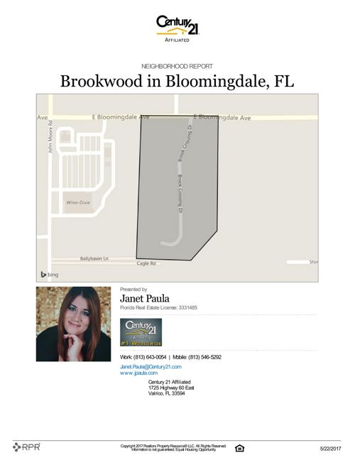 Neighborhood Report for Brookwood