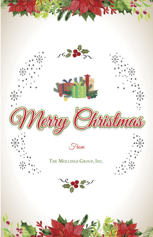 Corporate Christmas Greeting Card Template