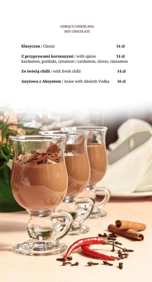 Cafe Wierzynek Menu