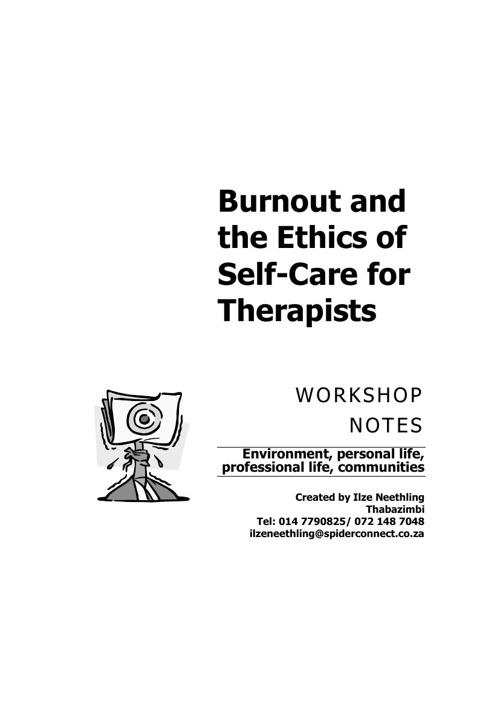 therapists prevent burnout