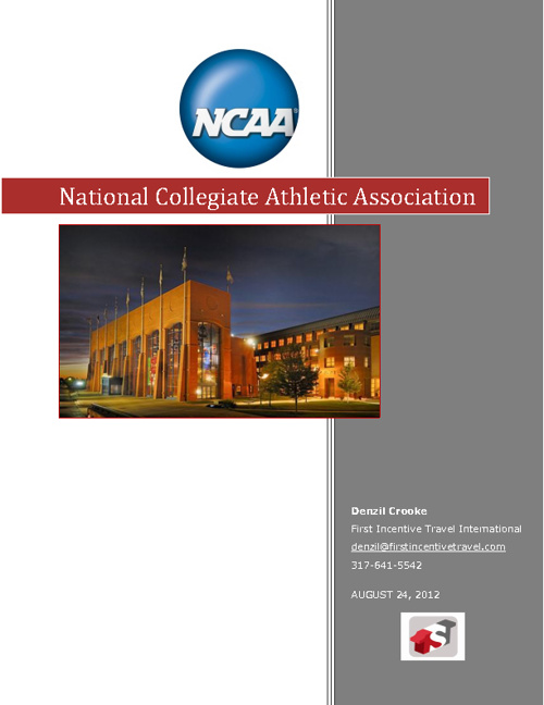 NCAA Request For Information First Incentive Travel
