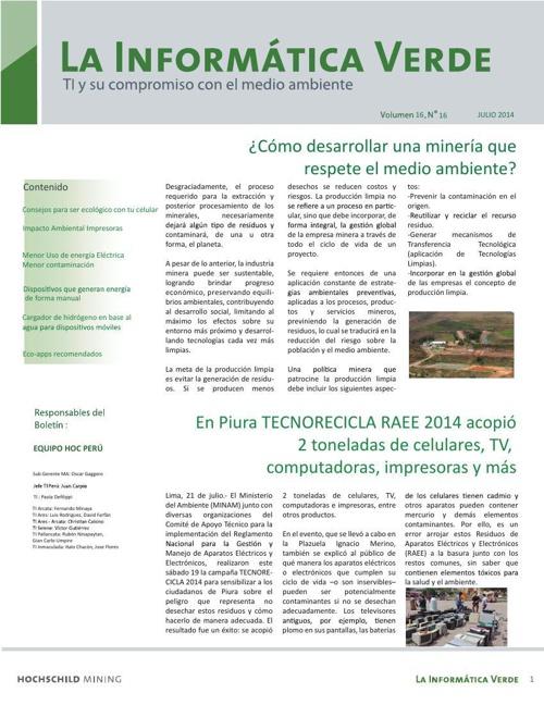 Informática Verde - Julio 2014