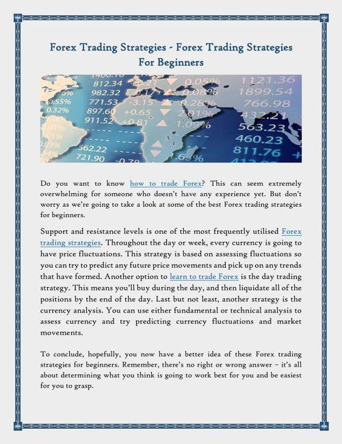 Forex Trading Strategies - Forex Trading Strategies For Beginner
