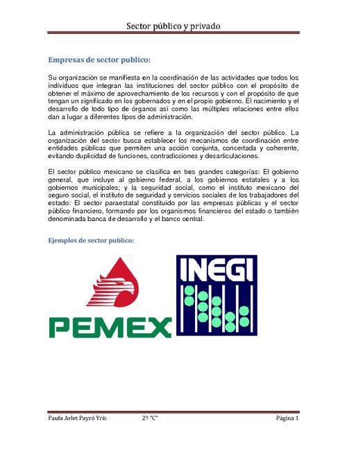 empresas del sector publico y privado
