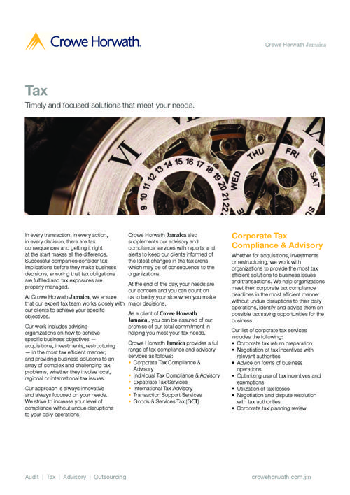 Tax Services in Jamaica