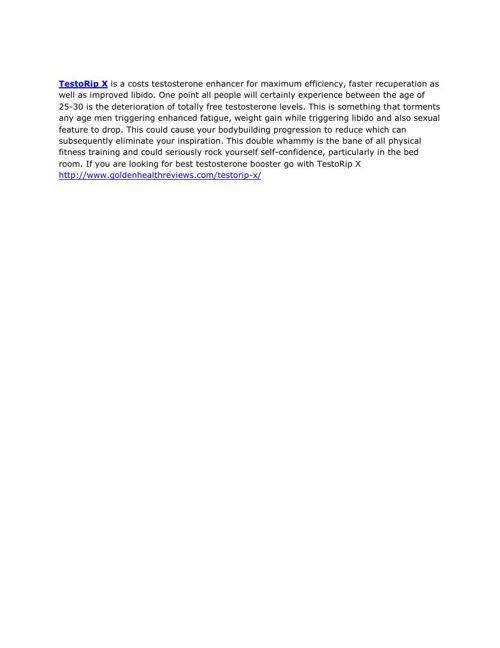 TestoRip X - Natural Testosterone Booster Supplement