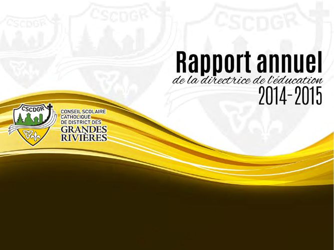 Rapport Annuel CSCDGR 2014-2015