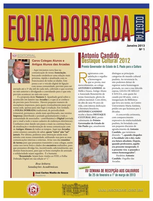 Folha Dobrada Janeiro 2013