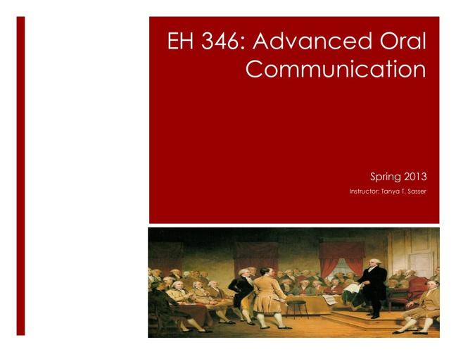 Spring 2013 EH 346 Syllabus