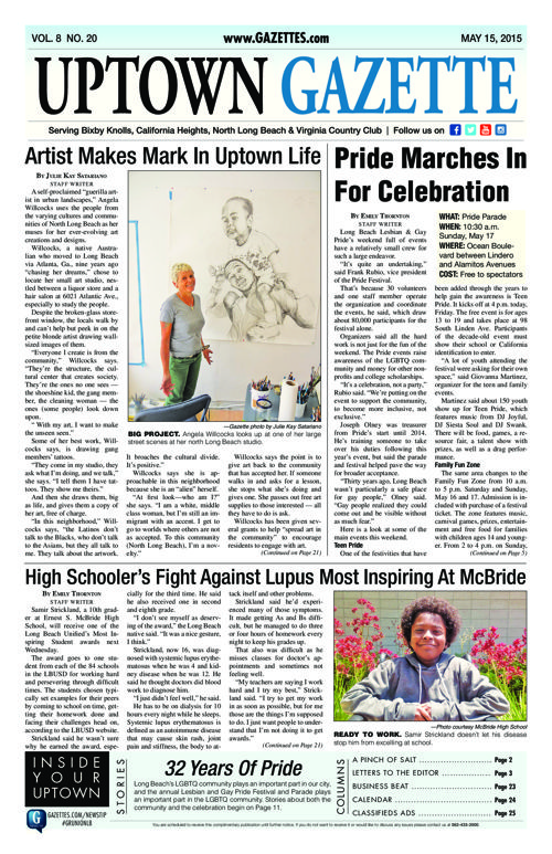 Uptown Gazette  |  May 15, 2015