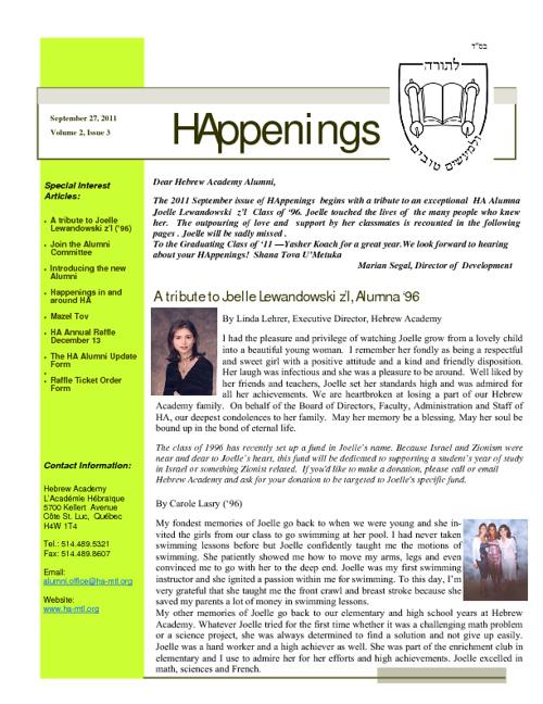 HAppenings - September 2011