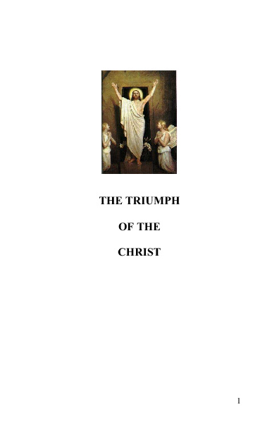 The Triumph of the Christ