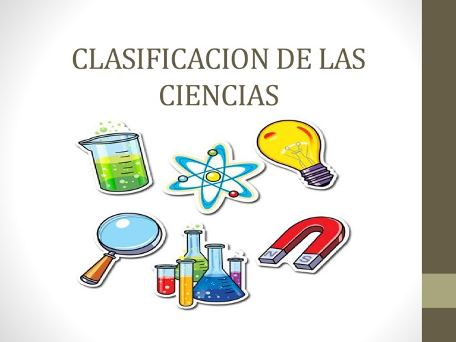 Clasificacion de las ciencias