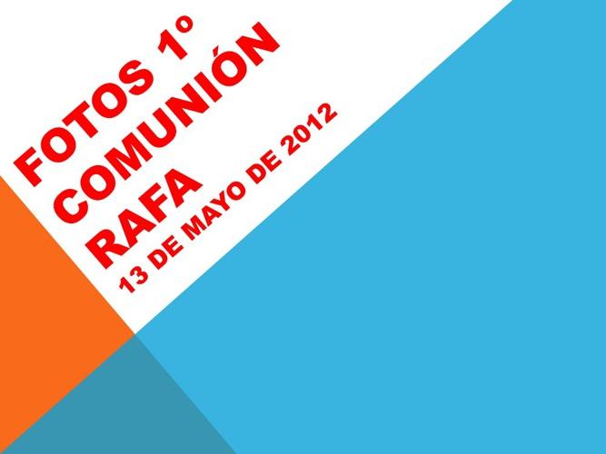 1º COMUNION RAFA