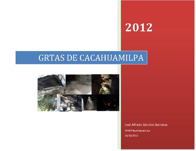 """Album """"Grutas de cacahuamilpa"""""""