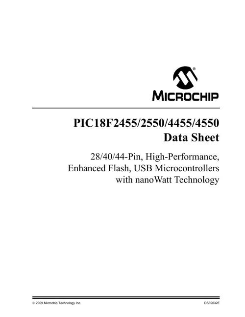 PIC 18F4550 Datasheet