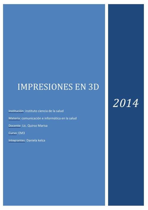 impresiones 3D - Daniela kelca