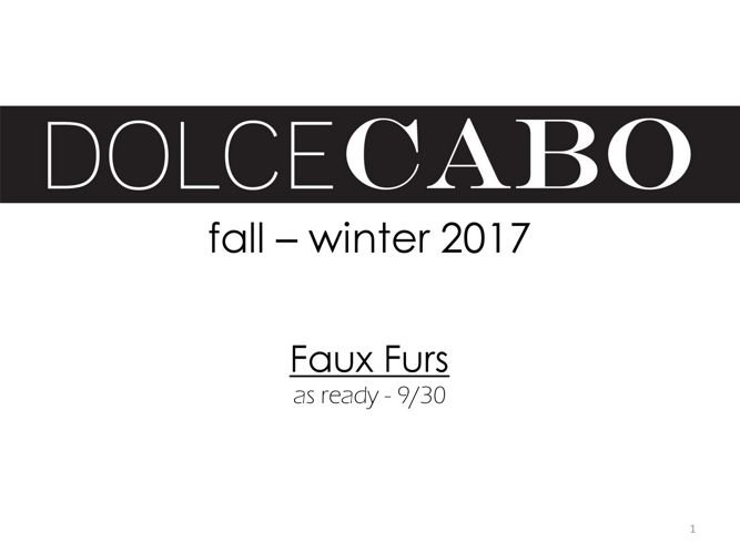 FALL FAUX FUR 2017