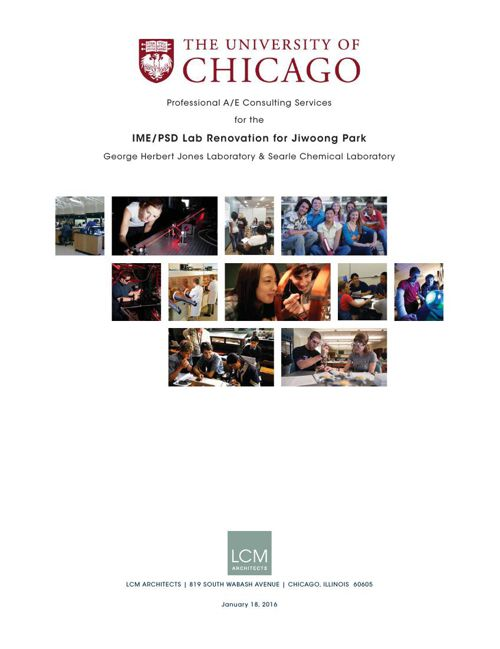LCM ARCHITECTS U OF C JIWONG PARK LAB 01182016