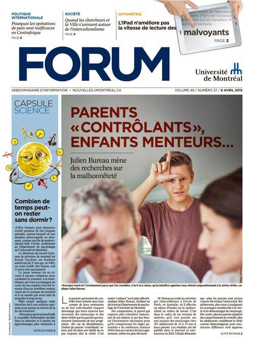 Forum - semaine du 6 avril 2015