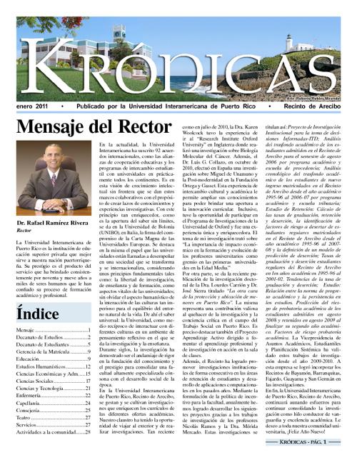 Periódico Krónicas - enero 2011