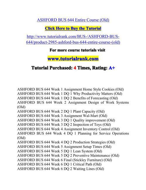 BUS 644 Potential Instructors / tutorialrank.com