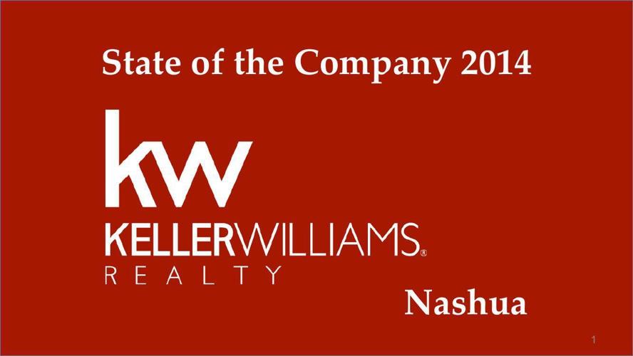 Keller Williams Nashua State of the Company 2014