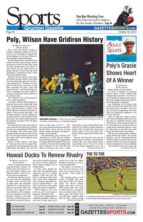 Gazette Sports | October 25, 2012