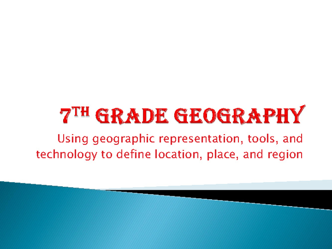 7th Grade Geography