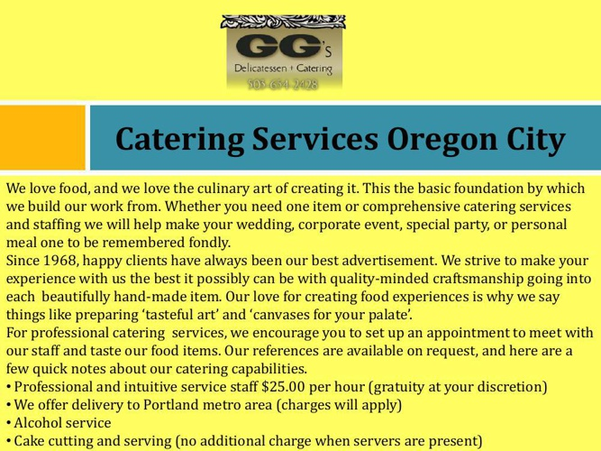 Catering Services Oregon City