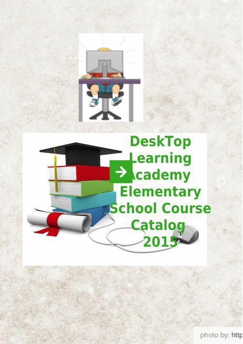DeskTop Elementary School Brochure