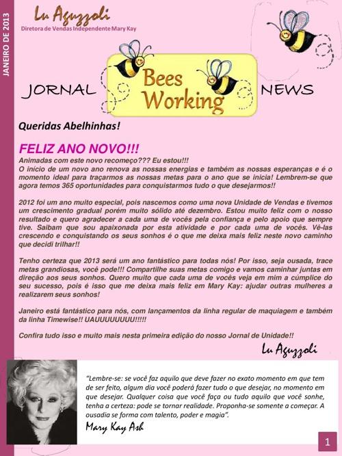 Bees Working News - Janeiro