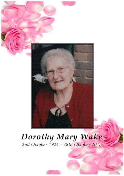 Dorothy Wake