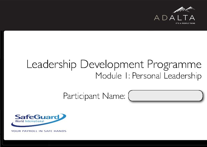 Personal Leadership Booklet v2