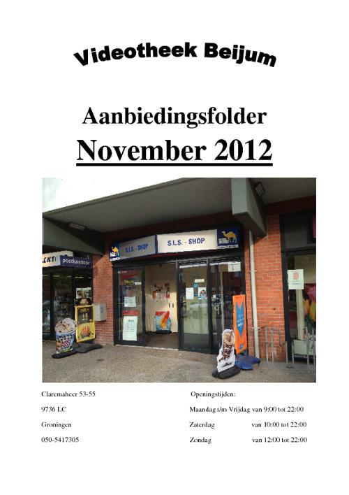 Aanbiedingsfolder November 2012