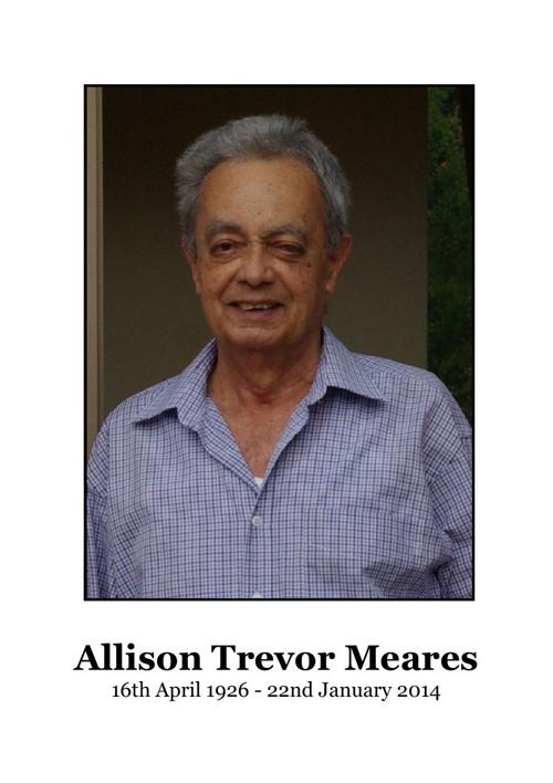 4 Order of Service for Allison Trevor Meares