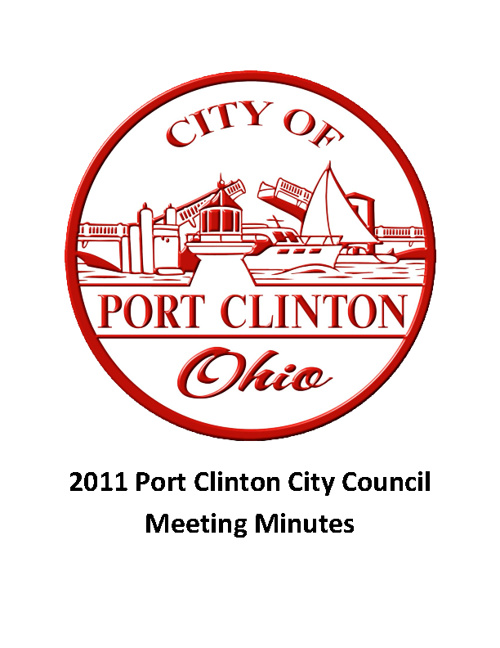 2011 Port Clinton City Council Meeting Minutes