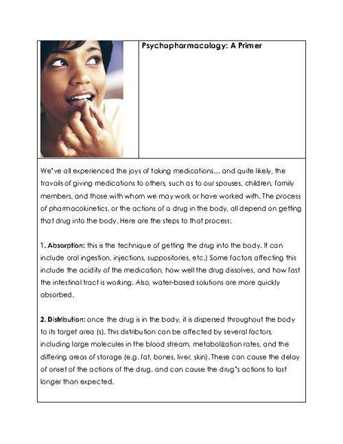 Psychopharmacology: A Primer