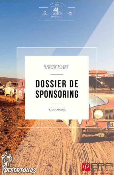 Dossier Sponsoring - 4L LES CABOSSES