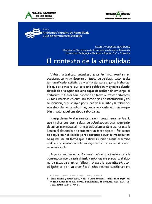 El contexto de la virtualidad