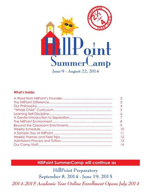 HillPoint SummerCamp 2014
