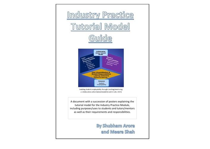 IP Tutorial Model Guide by Shubham Arora & Meera Shah