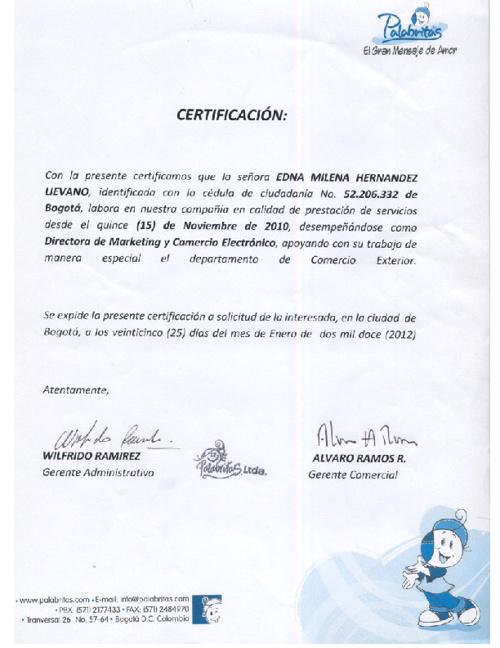 Certificados Edna Milena Hernandez