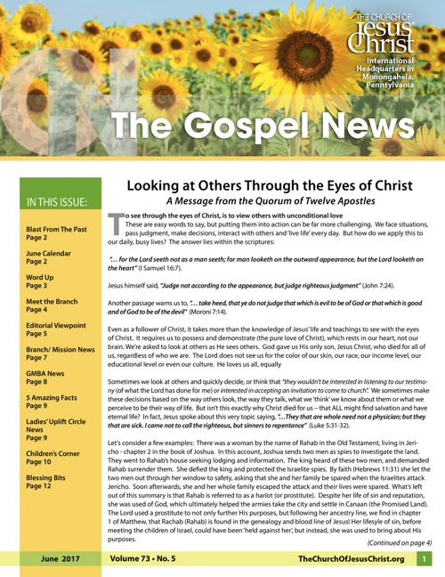 Gospel News June 2017