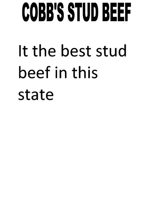 Cobbs Stud Beef
