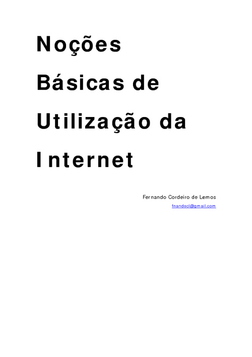 Apostila de Internet