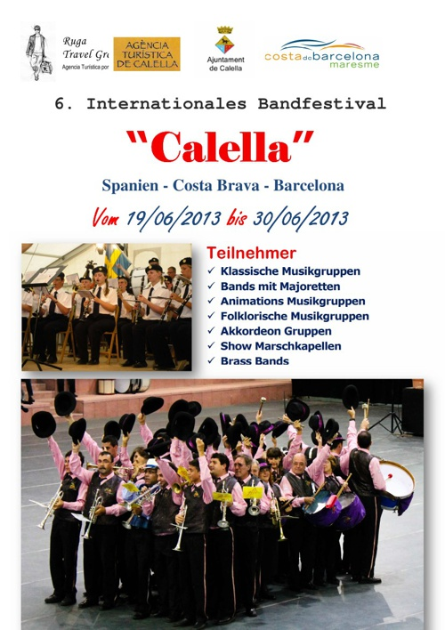 6. Internationales Band Festival Calella