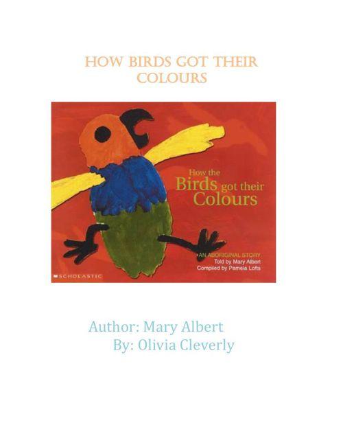 how birds got their  colours assingment